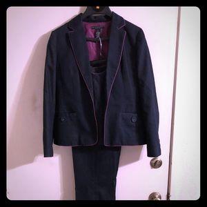 Other - Navy jean 3pc pant suit